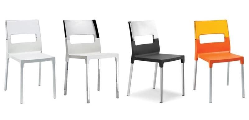 Sedie Giardino Plastica Design Moderno : Sedia impilabile moderna in polipropilene e fibra di