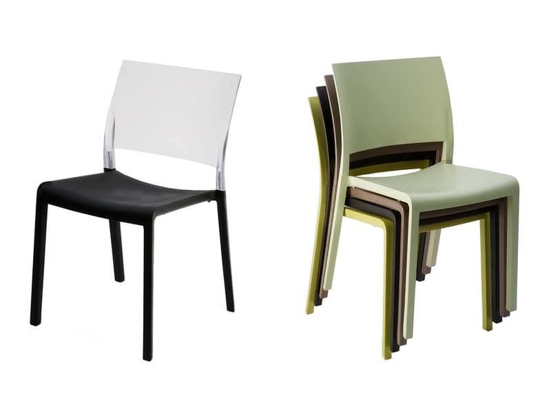 Sedie interamente in plastica patio idfdesign - Sedie plastica design ...