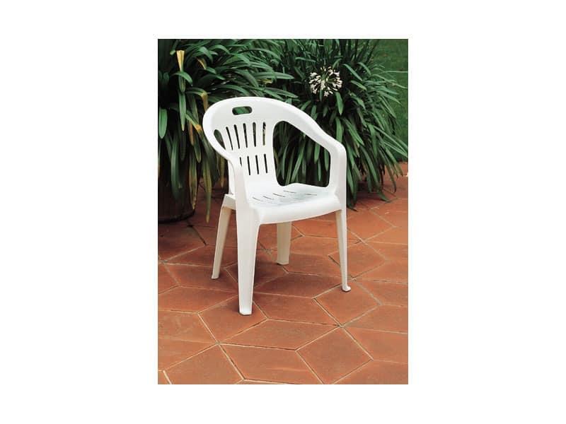 Sedia impilabile in plastica per giardino idfdesign