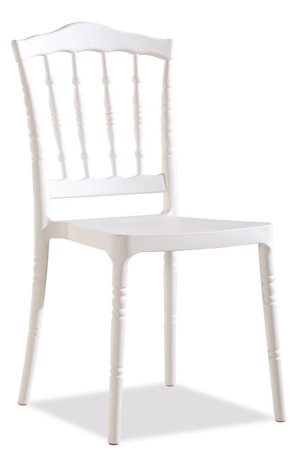 Sedia da giardino//Poltrona da giardino IBIZA IMPILABILE IN PLASTICA BIANCO