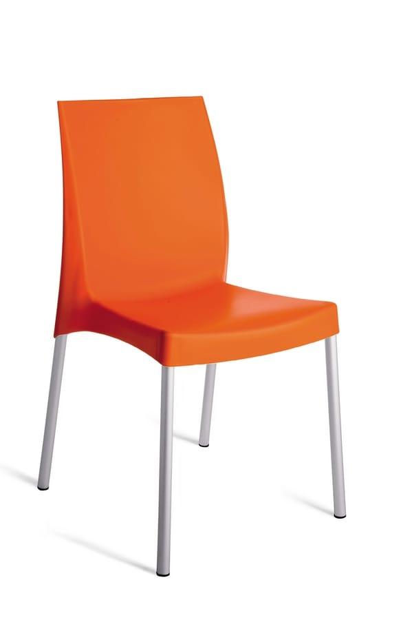 SE 3340, Sedia impilabile per esterno con piedini antiscivolo
