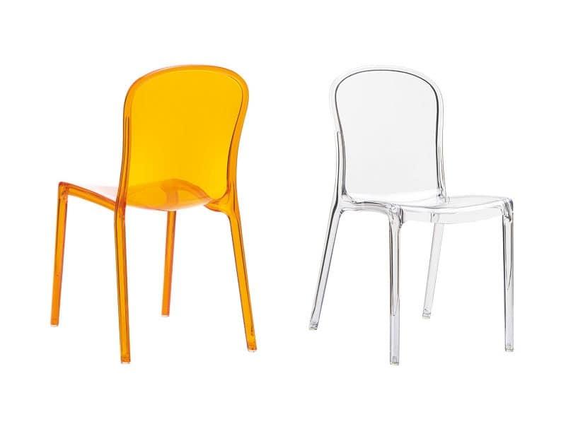 Sedia impilabile in plastica leggera anche per uso - Sedie design plastica ...
