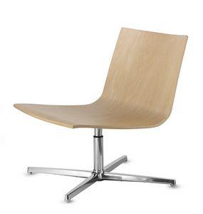 EXEN 242, Sedia girevole con seduta in legno