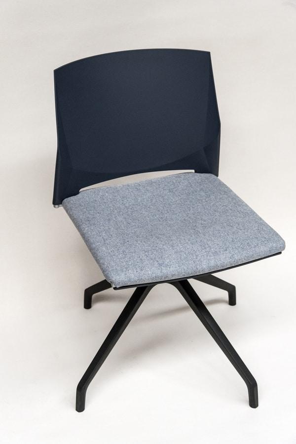 TREK 039X, Sedia girevole, con seduta imbottita