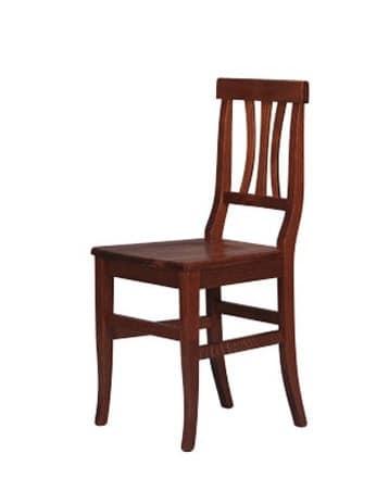 185, Sedia rustica interamente in legno di faggio, per hotel