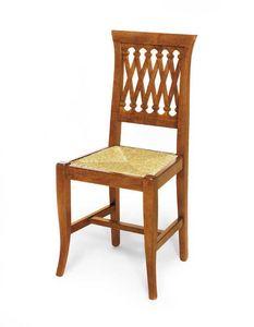 Art. 102, Sedia in stile classico con seduta in paglia