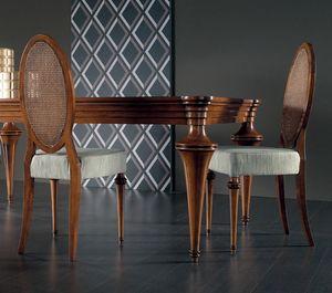 Etoile Art. ET042/P/NO, Sedia con schienale ovale in paglia di Vienna