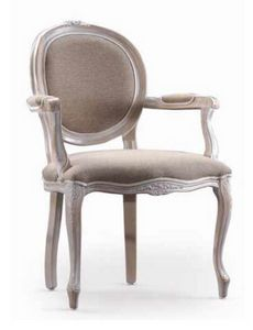 Ginevra-P, Sedia con braccioli, per arredi classici