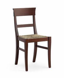 IMPERIALE, Sedia rustica con seduta in paglia intrecciata, per osterie