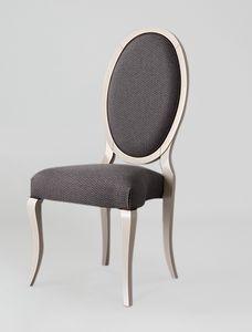 S16, Elegante sedia con schienale ovale