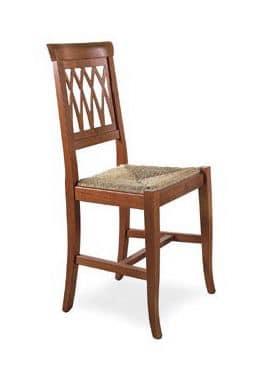 SE 157, Sedia da pranzo robusta, in legno, in stile rustico