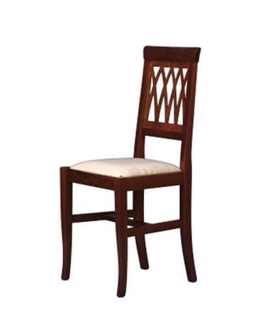 176, Sedia imbottita con schienale in faggio, per sala da pranzo