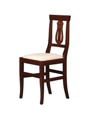 180, Sedia in faggio massello, per sala da pranzo e ristorante