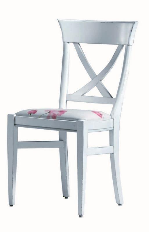 Annie BR.0211, Sedia laccata, seduta imbottita, senza braccioli