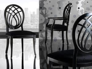Immagine di GIORGIA sedia 8028S, sedia pranzo schienale decorato