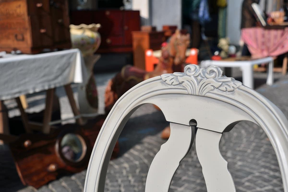 GUSTAVIA sedia 8116S, Sedia in stile gustaviano con schienale ovale