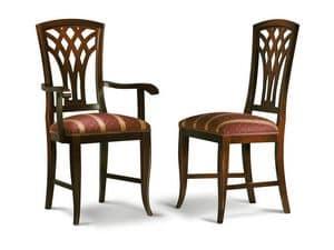 Immagine di INTRECCIATA sedia 8031S, sedia pranzo schienale decorato