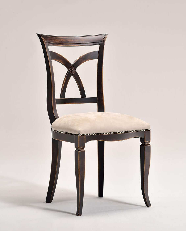 VICTORY sedia 8092S, Sedia in stile classico con sedile imbottito