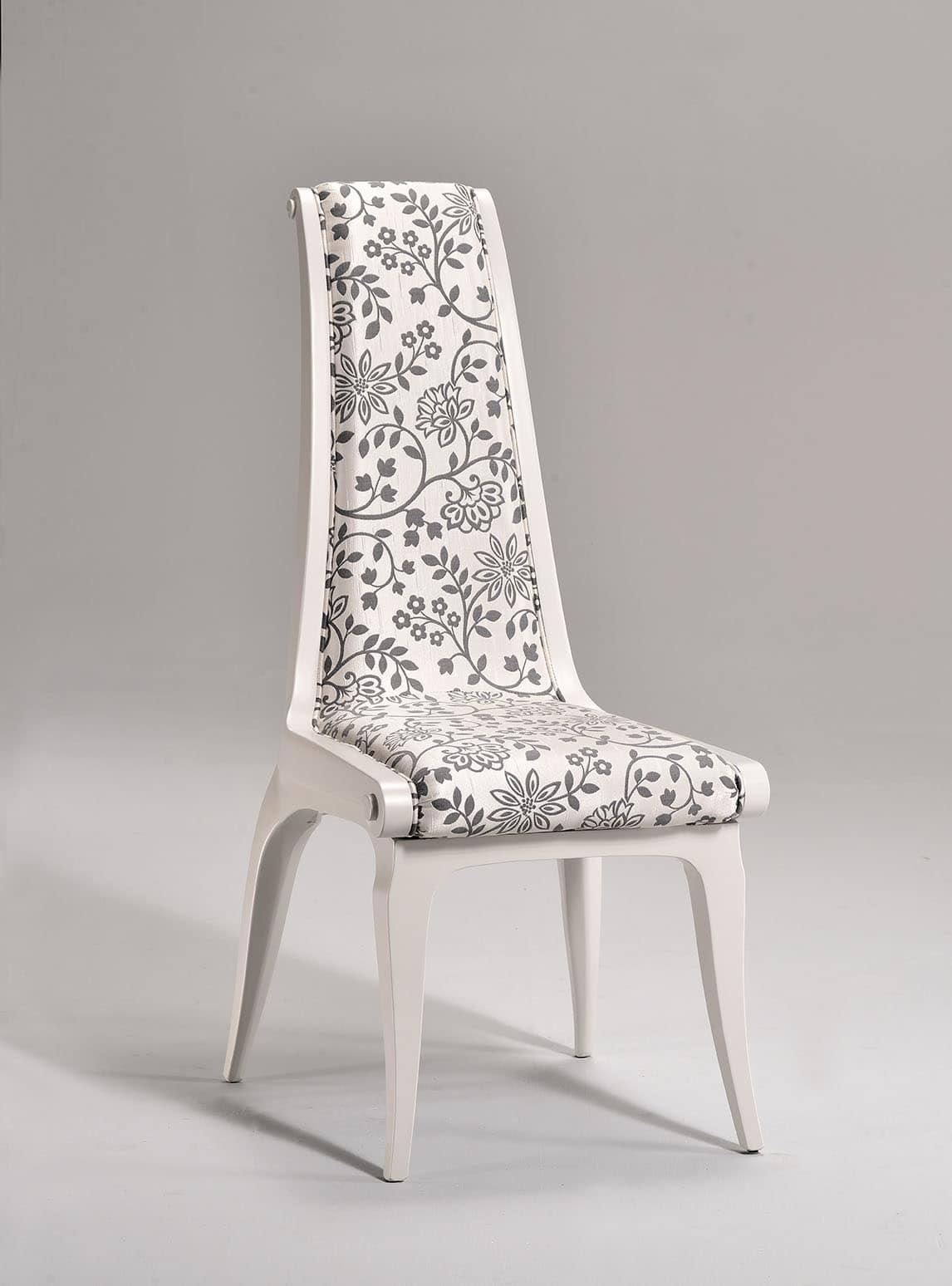 AFRODITE sedia 8291S, Sedia in stile classico, seduta e schienale imbottiti