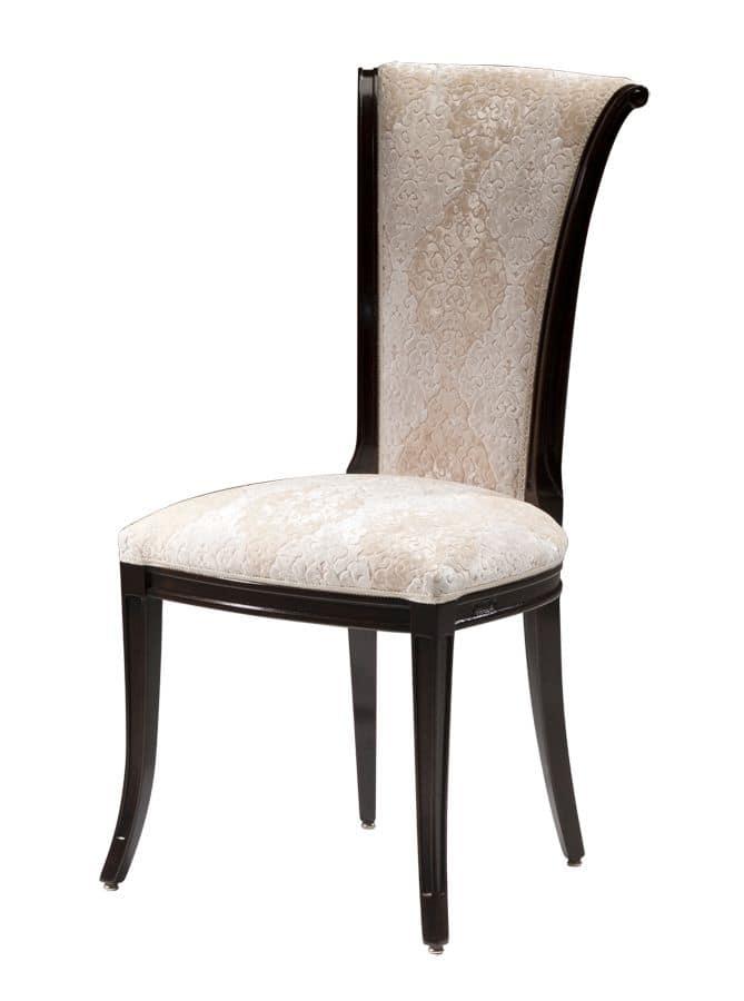 Amazon DU.0150.SP, Sedia in legno di noce, schienale alto, stile classico