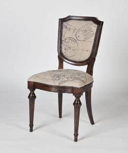 Immagine di Art. 582, sedia pranzo sedile e schienale imbottito