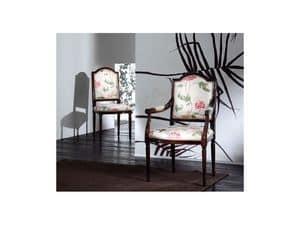 CARMEN sedia 8249S, Sedia in legno imbottita, stile classico