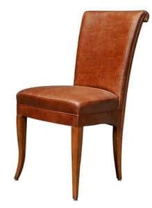 Colorado BR.0777, Sedia in stile classico, con seduta e schienale imbottito