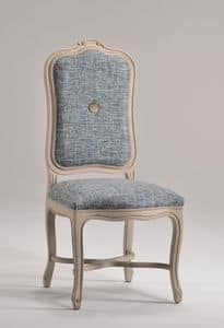 ELISABETH sedia 8492S, Sedia con alto schienale imbottito, stile classico