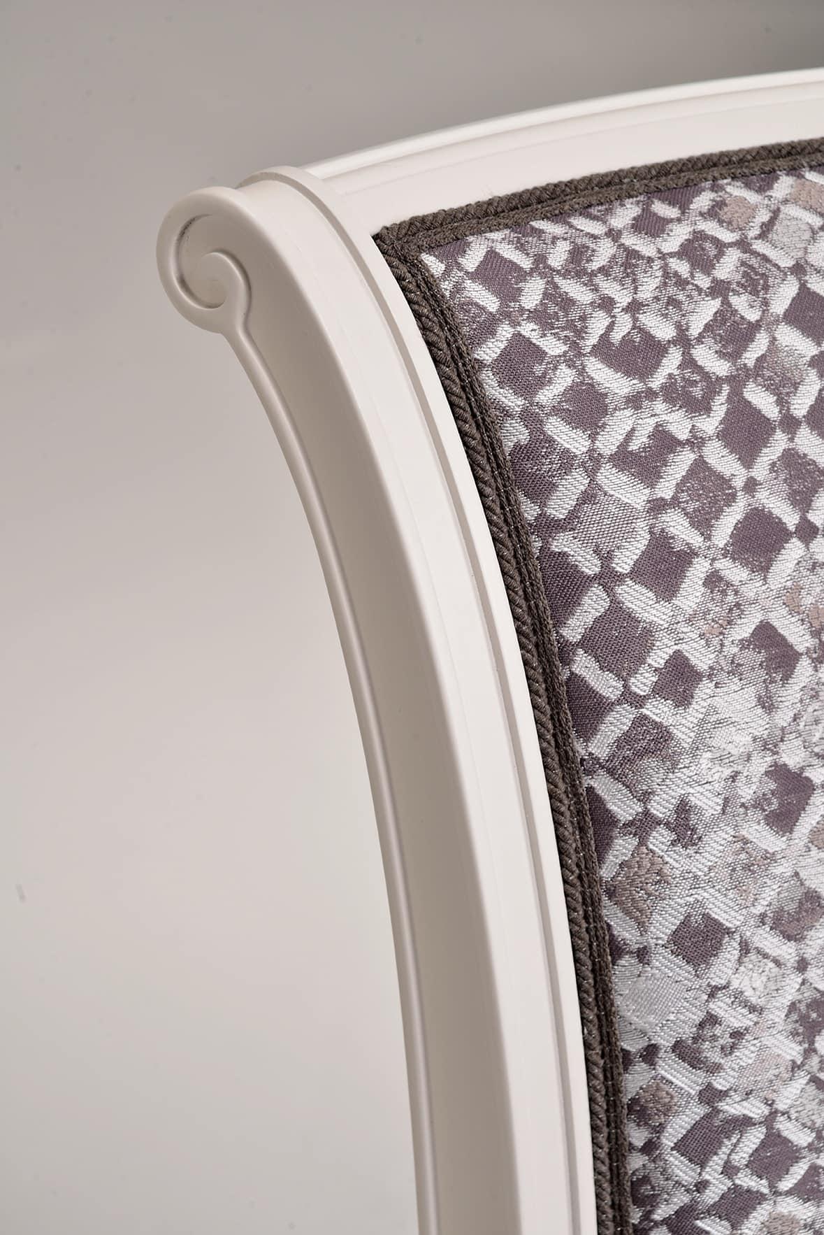KELLY sedia 8021S, Sedia senza braccioli in stile classico, personalizzabile