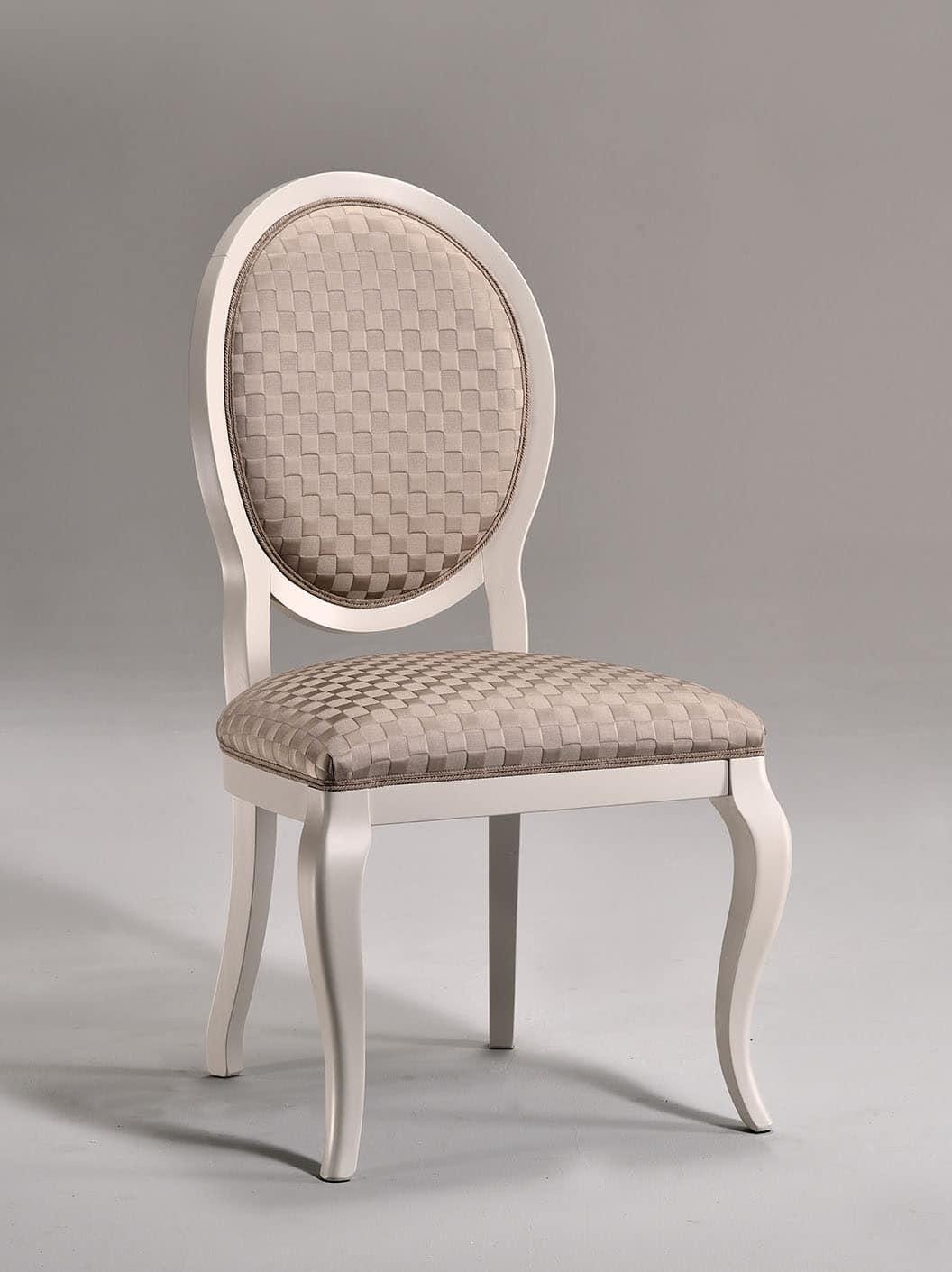 Sedia da pranzo sedile rivestito per zona giorno idfdesign for Sedia design pranzo