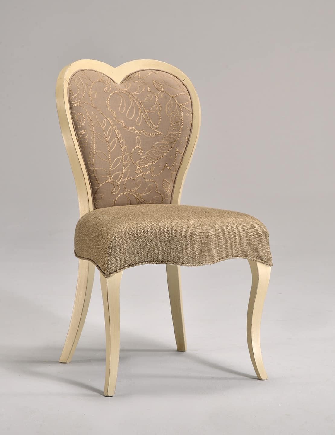 Sedia classica in faggio schienale a forma di cuore - Schienale sedia ...