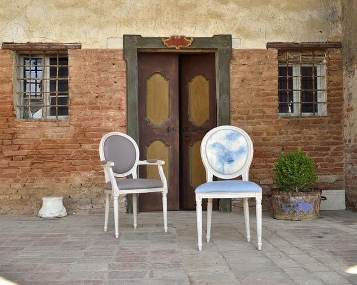 LUIGI XVI sedia 8023S, Sedia da pranzo, disegno tradizionale, per ristorante