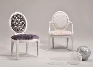 LUNA sedia 8269S, Sedia imbottita, rivestimenti e tinte personalizzabili