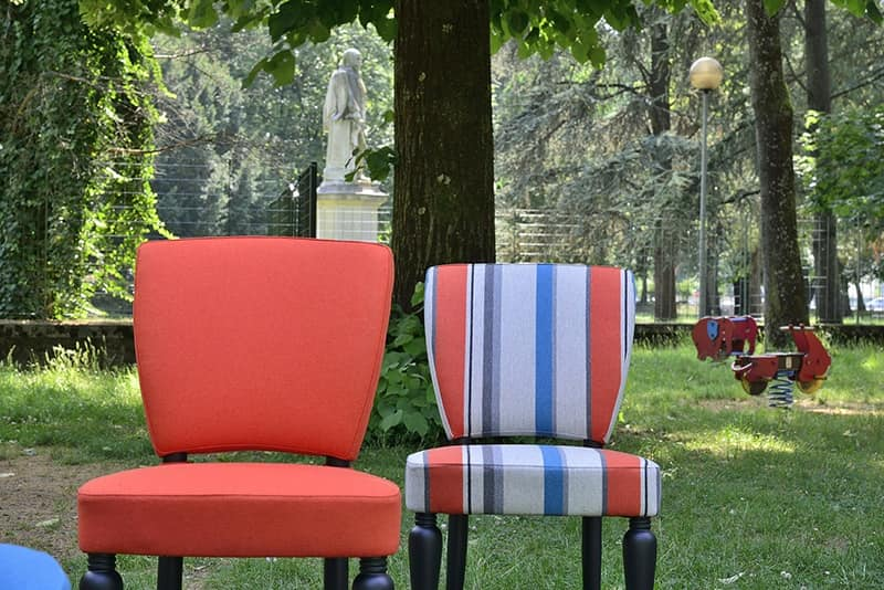MARILYN sedia 8301S, Sedia classica con seduta imbottita, in faggio massiccio