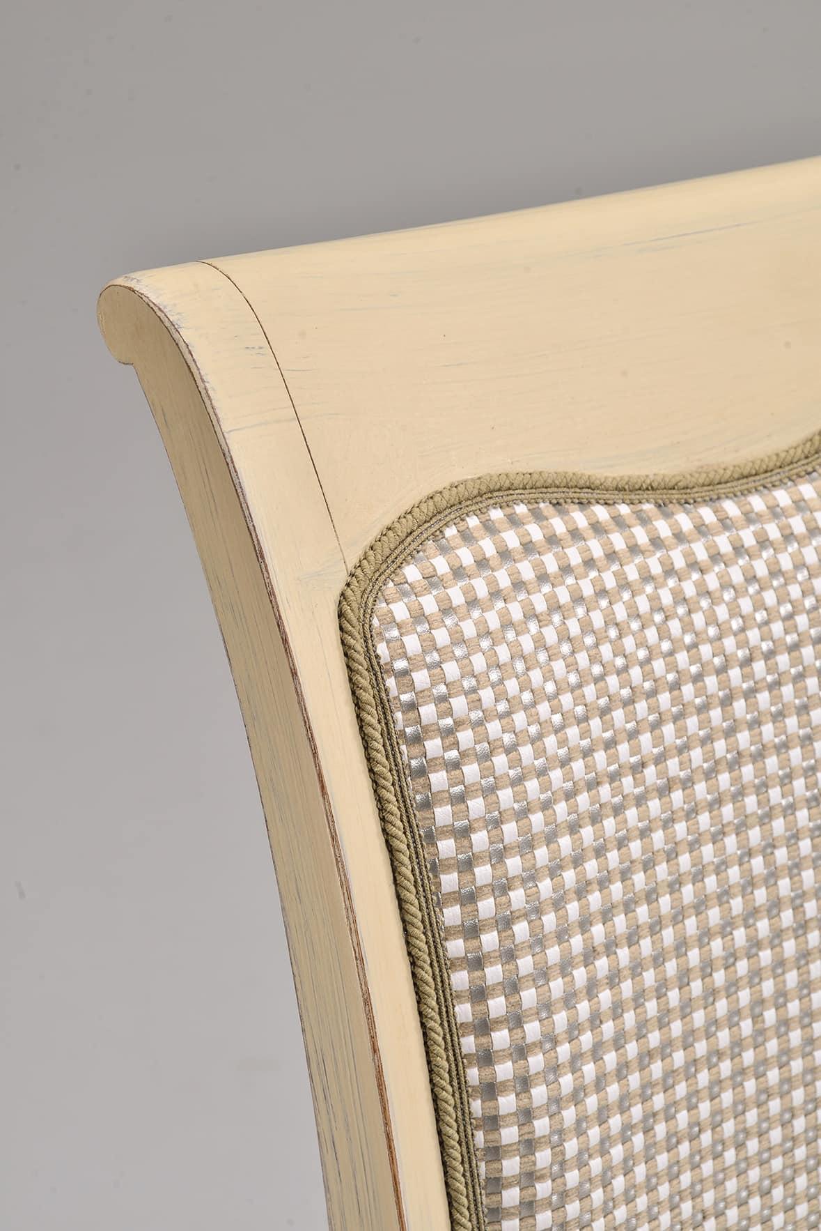 MILUNA sedia 8314S, Sedia per soggiorni in stile classico, imbottita