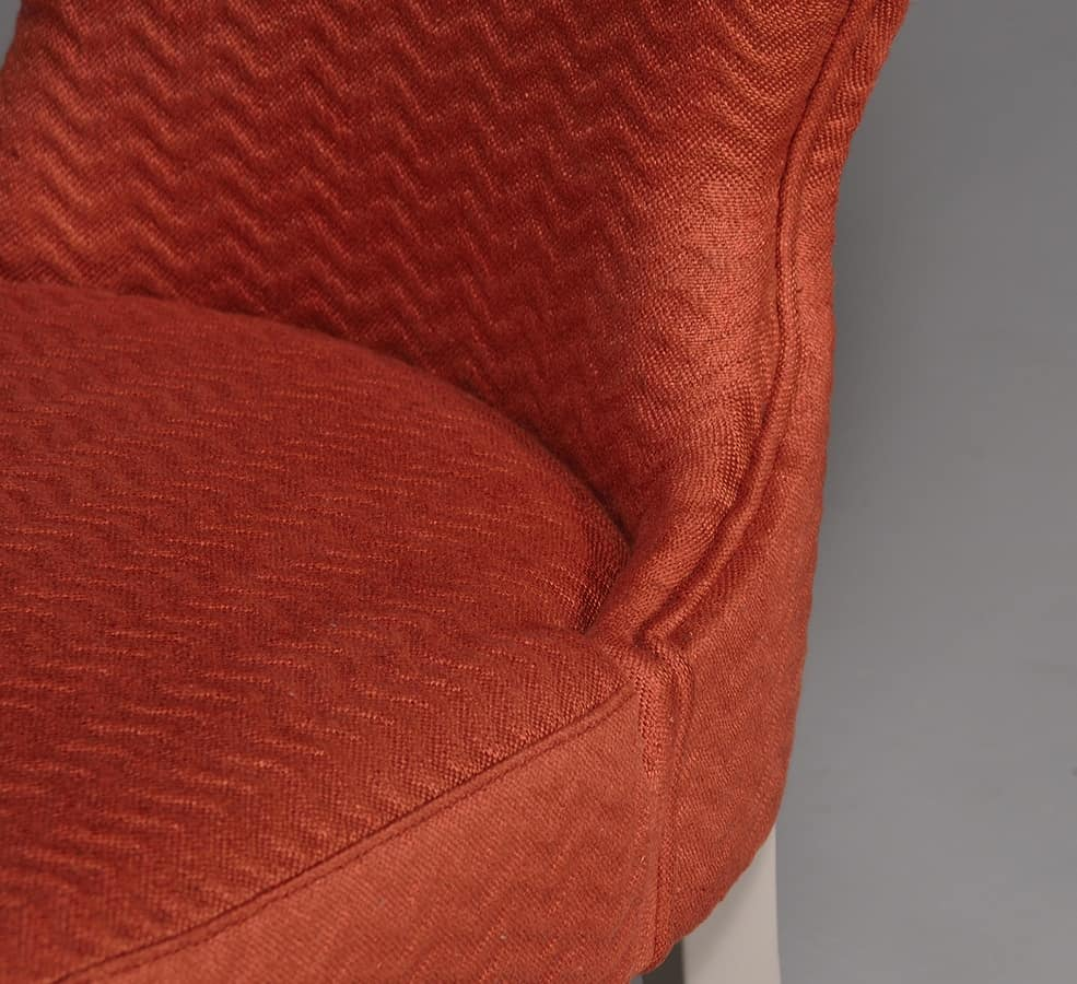 NEA sedia 8309S, Sedia in stile classico con schienale curvato ed imbottito