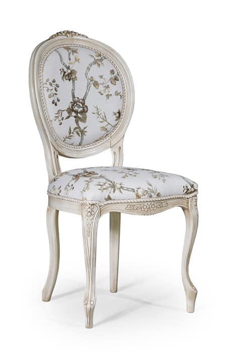 Sedia in stile classico senza braccioli per sala da for Sedie da sala pranzo