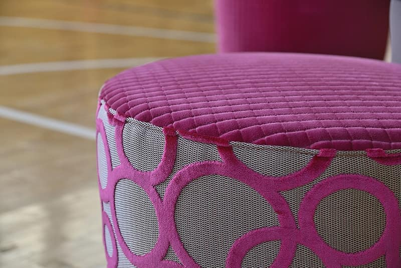 ROUND sedia 8641S, Sedia elegante, con seduta tonda imbottita, per ristorante