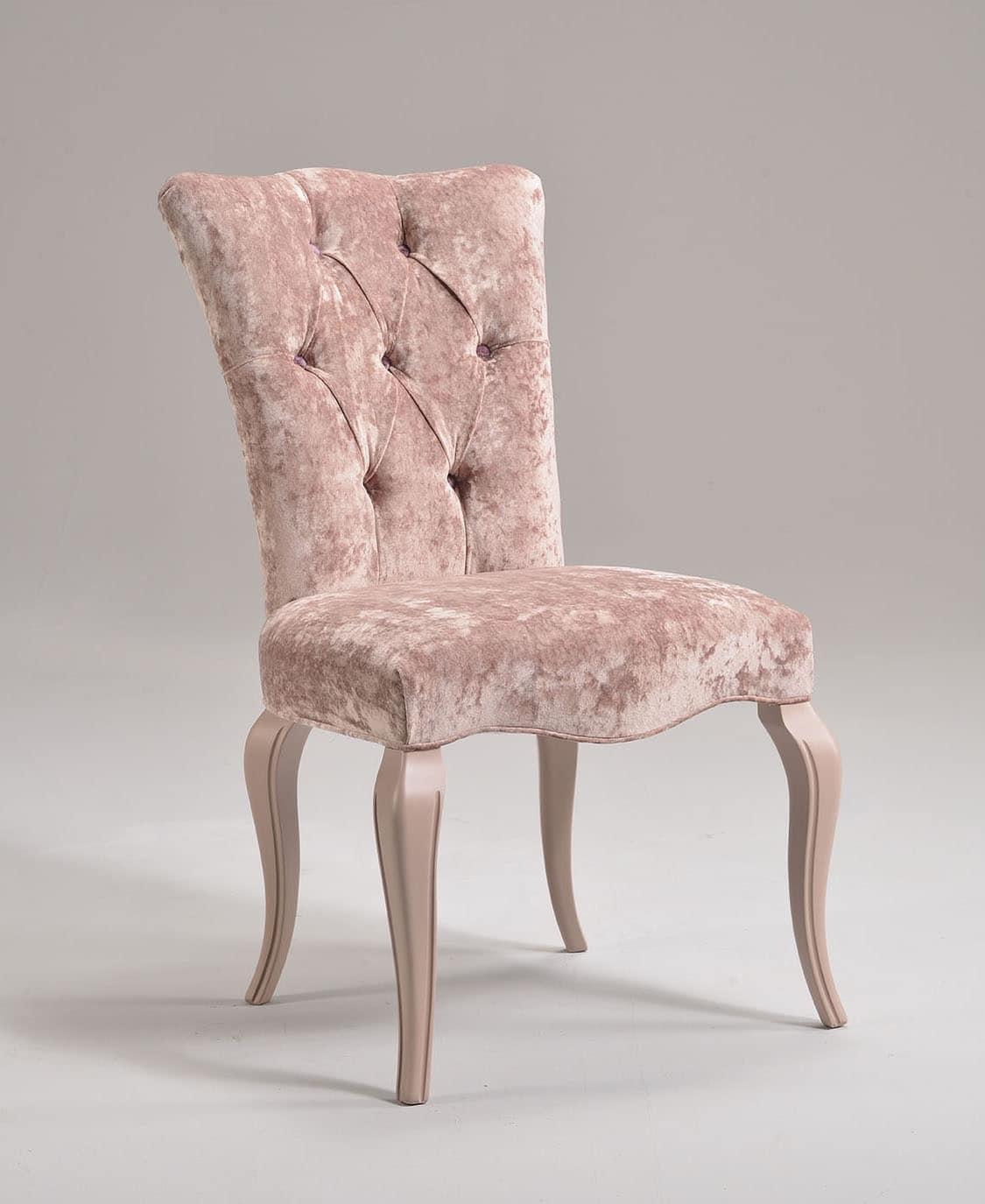 Sedia classica in faggio imbottita customizzabile for Design sedie
