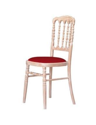 Sedia in legno faggio, per soggiorni in stile classico | IDFdesign