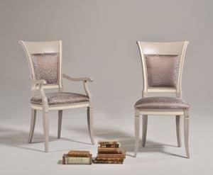 SIRIA sedia 8525S, Sedia in vecchio stile con spalliera in legno