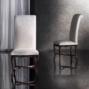 SISSI sedia 8491S, Sedia in faggio lavorato a mano, schienale alto, classica