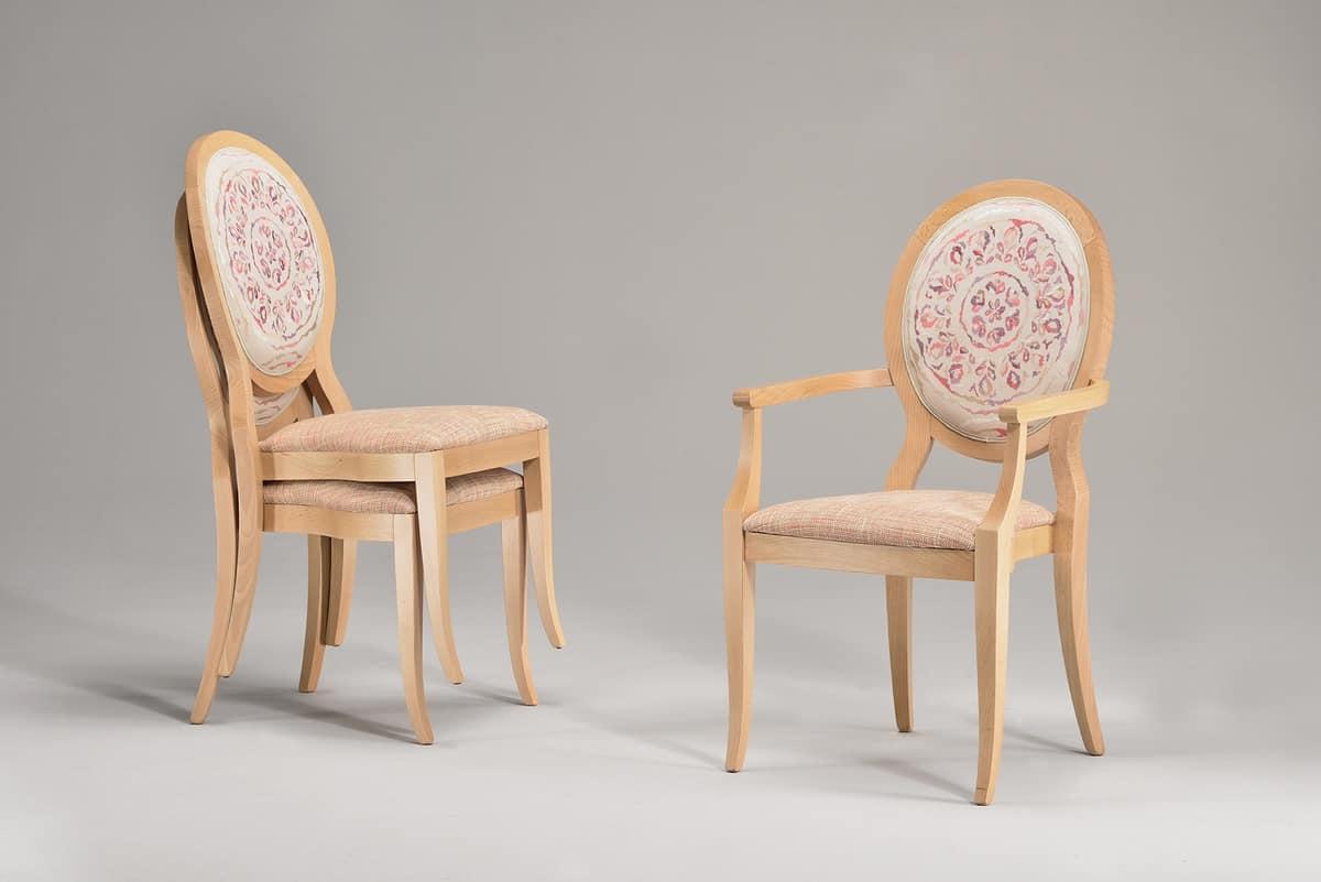 Sedia impilabile con seduta e schienale imbottiti idfdesign