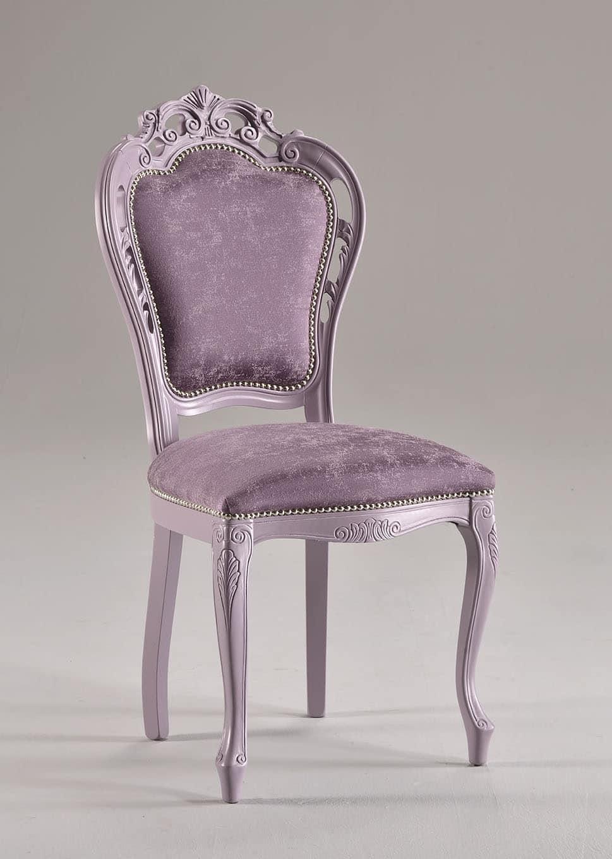 Sedia in stile in faggio massello imbottita idfdesign for Sedie classiche