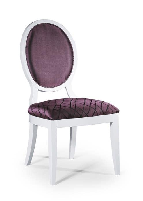 Sedia classica senza braccioli schienale imbottito ovale - Schienale sedia ...