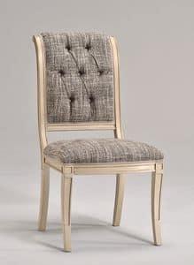 WENDY sedia 8286S, Sedia da pranzo in legno di faggio, vari tessuti