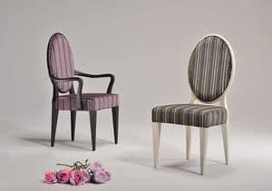 YVONNE sedia 8615S, Sedia da pranzo tradizionale, schienale circolare, ristorante