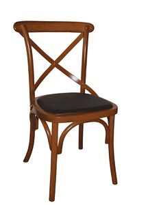 V17, Sedia in legno curvato con seduta imbottita