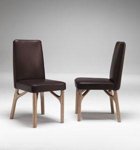 6105 Arpeggio/S, Sedia da pranzo in legno, imbottita