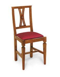 Art. 123, Sedia in stile classico, con seduta imbottita